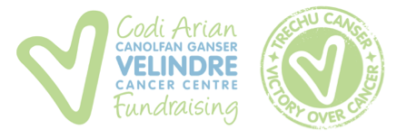 Codi Arian fundraising logo for local cancer centre
