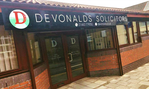 The office front for Devonald's Treorchy branch